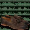 Loafers Clive 20 Suede Pattini Dark Brown