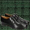 Derby Schuhe Selina 23 Perfo Black Rich Tan