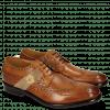 Derby Schuhe Eddy 25R Wood Strap Beige Embrodery
