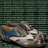 Oxford Schuhe Sally 38 Grigio Patent Black Grafi Gunmetal Mid Blue