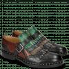 Monk Schuhe Sally 76 Plum Black Stone Navy Pine