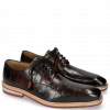 Derby Schuhe Marvin 19 Turtle Black Finishing Red