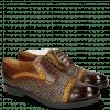 Derby Schuhe Amelie 19 Mid Brown Yellow Hairon Halftone Mogano Insole Purple