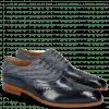 Oxford Schuhe Lewis 4 Navy Wind Textile Stripes Blue