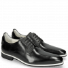 Derby Schuhe Dave 4 Black Lining Nappa White