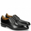 Derby Schuhe Dave 4 Black Rubber Black