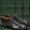 Derby Schuhe Jessy 6 Perfo Black Rich Tan Collar