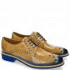 Derby Schuhe Amelie 7 Nude Shade Electric Blue Rook D Blue