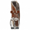 Gürtel Linda 2 Mid Brown Python Brown Sand Sword Buckle