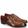 Oxford Schuhe Toni 15 Mid Brown Wood Lasercut LS Red