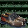 Oxford Schuhe Trevor 1  Guana Stone Smog Navy Orange Crip Blue