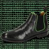Stiefeletten Amelie 4 Pavia Perfo Black Binding Fluo Green