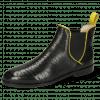 Stiefeletten Susan 67 Big Croco Black Binding Fluo Yellow