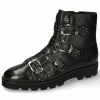 Stiefeletten Susan 44 French Nappa Black Sword Buckle