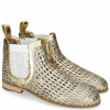 Stiefeletten Susan 10 Woven Sky Gold Elastic White