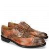Derby Schuhe Henry 7 Brazil Mogano Winter Orange