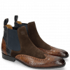 Stiefeletten Rico 12 Venice Crock Mid Brown Suede Pattini Dark Brown Venice Crock Navy