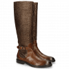 Stiefel Sally 59 Mid Brown Gold Finish Wellington