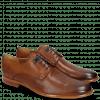 Derby Schuhe Clint 1 Pavia Tan Deco Pieces Electric Blue