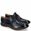 Derby Schuhe Blair 2 Turtle Navy RS Orange