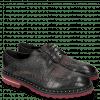Derby Schuhe Matthew 4 Big Croco Black Textile Retro