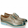 Derby Schuhe Amelie 7 Oxygen Shade Ice Blue Turquoise
