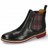 Stiefeletten Selina 6 Black Elastic Check Red Grey