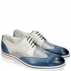 Derby Schuhe Kane 5 Vegas Mock Navy Grafi Silver Blue Digital