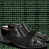 Oxford Schuhe Lance 23 Patent Black Net Black Rivets
