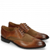 Derby Schuhe Victor 2 Rio Mid Brown Suede Pattini Roccia