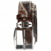 Gürtel Larry 2 Python Brown Hairon Black White Crock Mogano Sword Buckle
