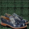 Loafers Amelie 60 Marine Textile Zardosi Blue