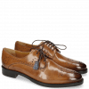Derby Schuhe Betty 2 Make Up Tassel Moroccan Blue RS Brown