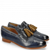 Loafers Selina 3 Moroccan Blue Textile Stripes