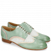 Derby Schuhe Sally 15 Verona Tropical Sea Ivory Nappa Perfo White