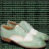 Derby Schuhe Sally 15 Verona Tropical Sea Ivory Nappa Perfo White