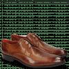 Derby Schuhe Toni 1 Lizzard Tan Lining Red