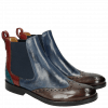 Stiefeletten Amelie 5  Stone Sky Blue Ruby Turquoise Elastic Navy LS Black