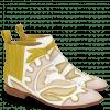 Stiefeletten Jessy 42 Nappa White Rose Beige Yellow
