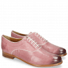 Derby Schuhe Selina 4 Pisa Lilac Binding Patent White