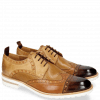 Derby Schuhe Eddy 48 Mid Brown Tan Perfo Underlay Sand Howline Nude