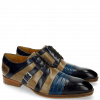 Derby Schuhe Ricky 2 Skink Navy Pop Blue Marble