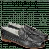Loafers Caroline 3 Black Rivets