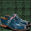 Derby Schuhe Mika 7 Mid Blue Monk Strap French Nylon