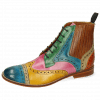 Stiefeletten Amelie 17 Venice Turquoise Mint Green Sun Pink Red