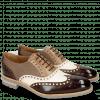 Oxford Schuhe Tom 26 Dark Brown White Oxygen Canvas Taupe