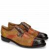 Derby Schuhe Henry 7 Big Croco Mid Brown Winter Orange Lima Ocra Tan Python