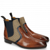 Stiefeletten Lewis 26 Baby Croco Tan Navy Canvas English