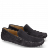 Loafers Nelson 1 Suede Pattini Navy