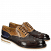 Oxford Schuhe Trevor 1 Classic Dark Brown Tortora Cobalt Kudu Wax Wine Crip White